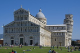 Duomo and Leaning Tower, UNESCO World Heritage Site, Pisa, Tuscany, Italy, Europe Photographic Print by Charles Bowman