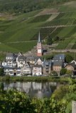 Zell Church on River Mosel, Zell, Rhineland-Palatinate, Germany, Europe Photographic Print by Charles Bowman