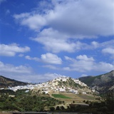 Distant View of Moulay Idriss, Morocco Photographic Print by Tony Gervis