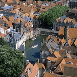 Aerial View over Rozenhoedkaai and Roof-Tops from the Belfry Photographic Print by Stuart Black