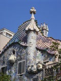 Detail of Gaudi's Casa Batllo, Barcelona, Spain Photographic Print by Jeanne Rawlings