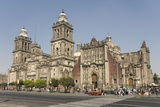 Catedral Metropolitana, Zocalo (Plaza De La Constitucion), Mexico City, Mexico, North America Photographic Print by Tony Waltham
