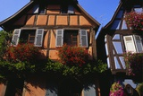 Exterior of Houses in Niedermorschwihr, Upper Alsace, Alsace, France Photographic Print by John Miller