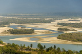 River Ganges Emerging from Himalayas at Haridwar Photographic Print by Tony Waltham