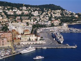 Nice Harbour, Cote D'Azur, France Photographic Print by Guy Thouvenin