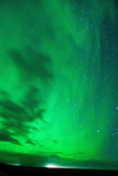 The Northern Lights (Aurora Borealis), Jokulsarlon, South Iceland, Polar Regions Fotografisk tryk af Ben Pipe