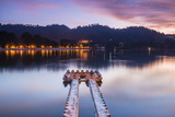 Kandy Lake at Sunrise, Kandy, Central Province, Sri Lanka, Asia Photographic Print by Matthew Williams-Ellis