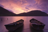 Rowing Boats on Crummock Water at Sunset Photographic Print by Markus Lange