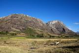 Granite Hills Dominate Countryside Near Ambalavao, Madagascar, Africa Photographic Print by Lynn Gail