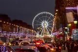 Roue De Paris and Champs Elysees at Dusk, Paris, France, Europe Photographic Print by Charles Bowman