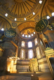 Interior of Hagia Sophia (Aya Sofya Mosque) (The Church of Holy Wisdom) Photographic Print by Neil Farrin