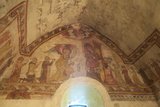 Medieval Frescoes in the Fisherman's Chapel, St. Brelade's Bay, Jersey, Channel Islands, Europe Photographic Print by Neil Farrin