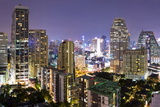 Panoramic View of Bangkok at Night from Rembrandt Hotel and Towers Photographic Print by Lee Frost