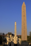 Obelisk of Theodosius in Foreground with the Walled Obelisk in the Background Photographic Print by Neil Farrin