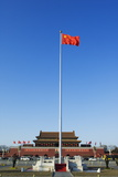 Chinese National Flag Infront of the Gate of Heavenly Peace in Tiananmen Square Beijing China Photographic Print by Christian Kober