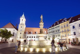 Rolands Fountain Dating from 1572, Bratislava, Slovakia, Europe Photographic Print by Christian Kober