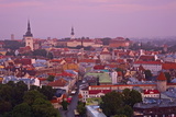 Elevated View over Old Town at Dawn, Tallinn, Estonia, Europe Photographic Print by Doug Pearson
