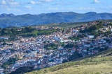 View over Diamantina, UNESCO World Heritage Site, Minas Gerais, Brazil, South America Photographic Print by Gabrielle and Michael Therin-Weise