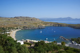 Lindos Beach, Lindos, Rhodes, Dodecanese, Greek Islands, Greece, Europe Photographic Print by  Tuul