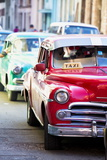 Vintage American Cars Used as Local Taxis Photographic Print by Lee Frost