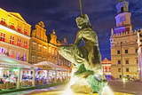 Statue of Mars, Historic Old Town, Poznan, Poland, Europe Photographic Print by Christian Kober