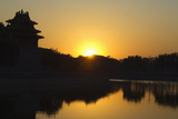 Sunset on a Watch Tower on the Wall of the Forbidden City Palace Museum, Beijing, China, Asia Photographic Print by Christian Kober