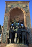 Republic Monument, Taksim Square, Istanbul, Turkey, Europe Photographic Print by Neil Farrin
