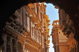Patwa Havelis, Renowned Private Mansion in Jaisalmer, Rajasthan, India, Asia Lámina fotográfica por  Godong