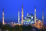 Blue Mosque (Sultan Ahmet Camii), UNESCO World Heritage Site, at Dusk, Istanbul, Turkey, Europe Photographic Print by Neil Farrin