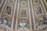 Detail of Dome and Frescoes in St. Peter's Basilica, Vatican, Rome, Lazio, Italy, Europe Photographic Print by  Godong
