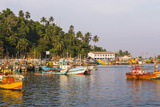 Old Commercial Fishing Boats in Mirissa Harbour, South Coast of Sri Lanka, Asia Photographic Print by Matthew Williams-Ellis