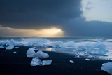 Icebergs on Beach, Jokulsarlon, Iceland, Polar Regions Photographic Print by Ben Pipe