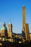 Towers of Torre Degli Asinelli and Torre Garisenda, Bologna, Emilia Romagna, Italy, Europe Photographic Print by Bruno Morandi
