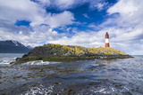 Lighthouse on an Island in the Beagle Channel, Ushuaia, Tierra Del Fuego, Argentina, South America Photographic Print by Michael Runkel