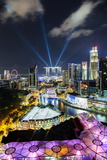 Elevated View over the Entertainment District of Clarke Quay Photographic Print by Gavin Hellier