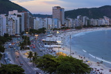 Copacabana at Night, Rio De Janeiro, Brazil, South America Photographic Print by Gabrielle and Michael Therin-Weise