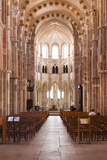 Looking Down the Nave of Basilique Sainte-Marie-Madeleine in Vezelay Photographic Print by Julian Elliott