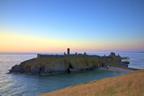 Peel Castle at Sunset, St. Patrick's Isle, Isle of Man, Europe Photographic Print by Neil Farrin