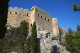 Lindos Acropolis. Lindos, Rhodes, Dodecanese, Greek Islands, Greece, Europe Photographic Print by  Tuul