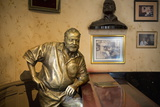 Lifesize Bronze of the Late Author Ernest Hemingway at the Bar of El Floridita Photographic Print by Lee Frost