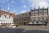 Town Hall, Lubeck, UNESCO World Heritage Site, Schleswig Holstein, Germany, Europe Photographic Print by Markus Lange