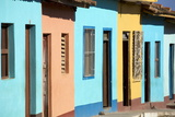 Row of Colonial Houses Painted Bright Colours Photographic Print by Lee Frost