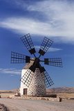 Panoramic Image of a Windmill, Tefia, Fuerteventura, Canary Islands, Spain, Atlantic, Europe Photographic Print by Markus Lange