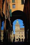 View of Palazzo Comunale on the Piazza Maggiore Photographic Print by Bruno Morandi
