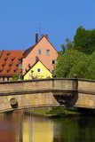 Fleisch Bridge, Nuremberg, Bavaria, Germany, Europe Photographic Print by Neil Farrin