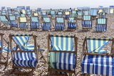 Deckchairs on the Beach at Beer, Devon, England, United Kingdom, Europe Photographic Print by Rob Cousins