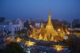 Sule Paya, Yangon (Rangoon), Myanmar (Burma), Asia Photographic Print by  Tuul