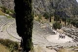 The Ancient Theater, Delphi, UNESCO World Heritage Site, Peloponnese, Greece, Europe Reproduction photographique par Jean-Pierre De Mann