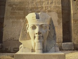Statue of a Colossi at the Entrance to Luxor Temple in Egypt Photographic Print by Robert Harding