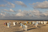 Beach Chairs on the Beach of Sankt Peter Ording Photographic Print by Markus Lange